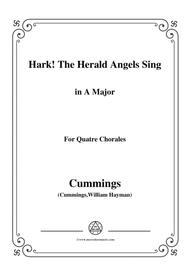 Cummings-Hark! The Herald Angels Sing,in A Major,for Quatre Chorales