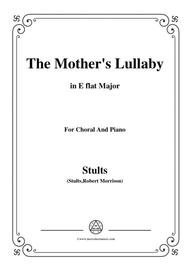 Stults-The Story of Christmas,No.9,The Mothers Lullaby,in E flat Major,for Choral&Piano