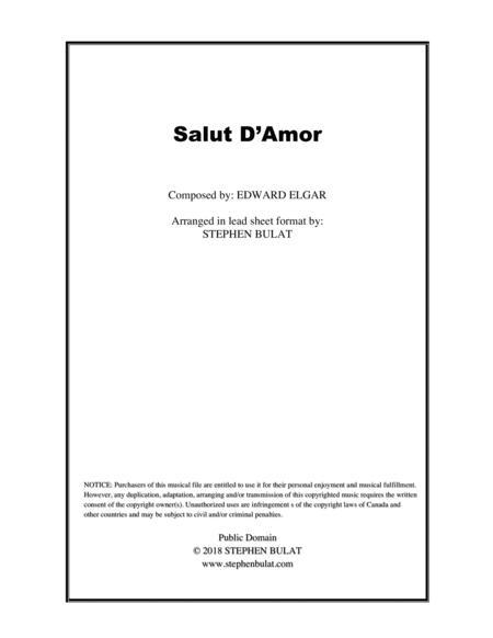Salut D'Amor (Elgar) - Lead sheet (key of Gb)
