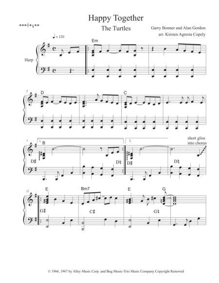 Happy Together - The Turtles (Solo Harp Arrangement)