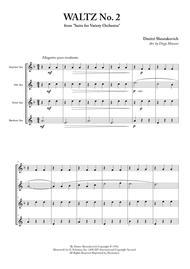 Waltz No. 2 for Saxophone Quartet