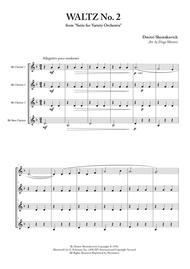 Waltz No. 2 for Clarinet Quartet