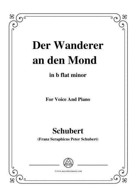 Schubert-Der Wanderer an den Mond,Op.80,in b flat minor,for Voice&Piano