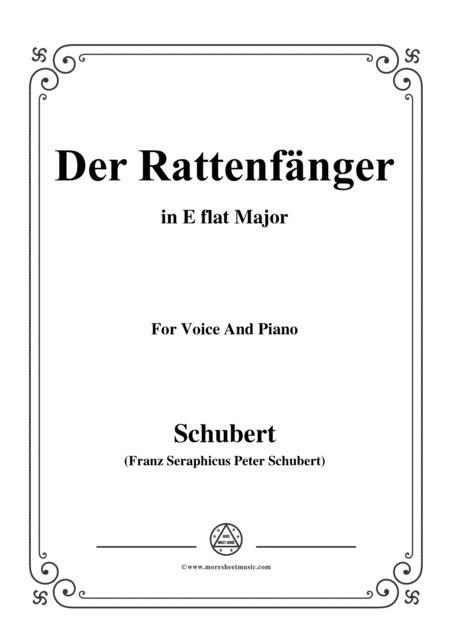 Schubert-Der Rattenfänger,in E flat Major,for Voice&Piano