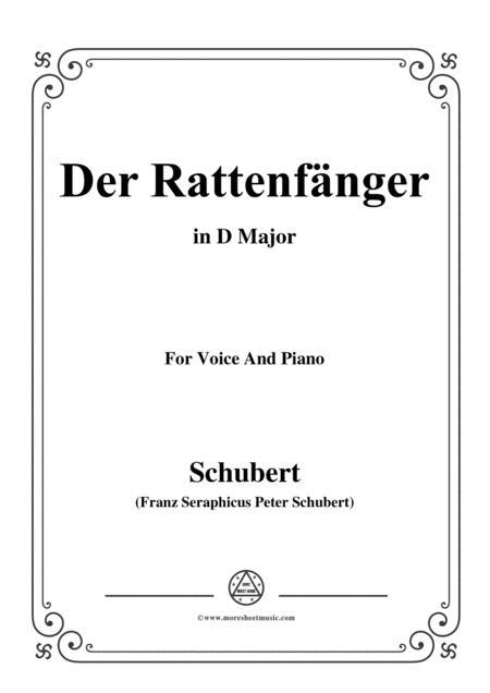 Schubert-Der Rattenfänger,in D Major,for Voice&Piano
