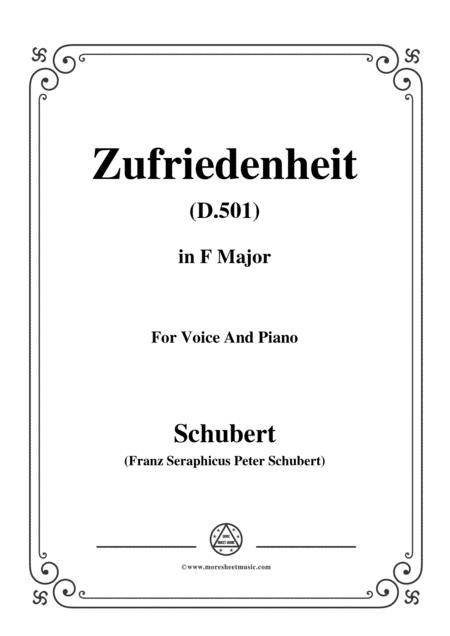 Schubert-Zufriedenheit(Contentment),D.501,in F Major,for Voice&Piano