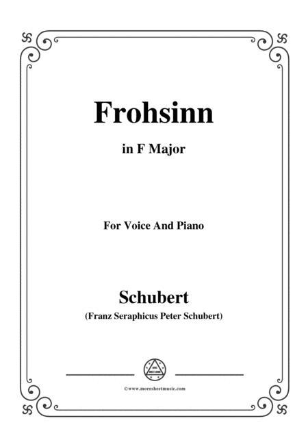 Schubert-Frohsinn(Cheerfulness),D.520,in F Major,for VoiceΠano