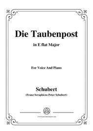 Schubert-Die Taubenpost,in E flat Major,for Voice&Piano