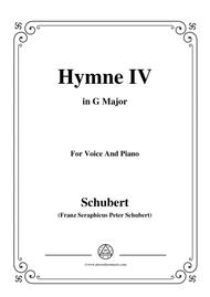 Schubert-Hymne(Hymn) IV,D.662,in G Major,for VoiceΠano