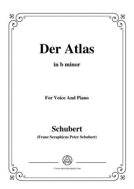 Schubert-Der Atlas,in b minor,for Voice&Piano