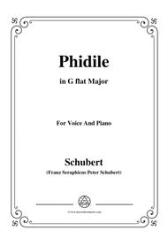 Schubert-Phidile,in G flat Major,for Voice&Piano