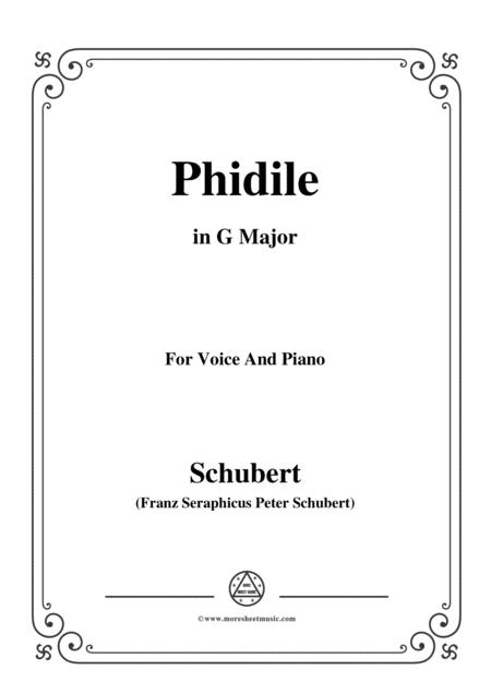 Schubert-Phidile,in G Major,for Voice&Piano