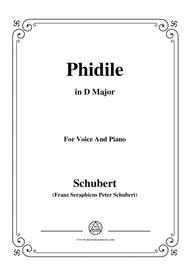 Schubert-Phidile,in D Major,for Voice&Piano