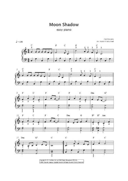 Moonshadow / easy piano