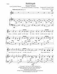Hallelujah - Easter Version - 2 Part - Treble