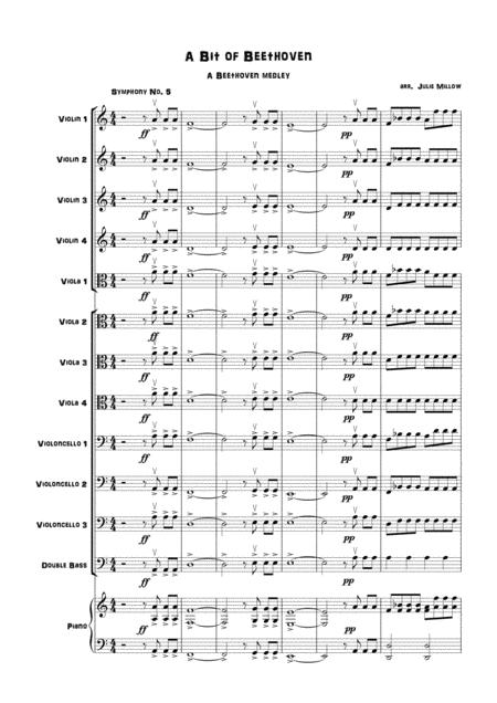 A Beethoven Medley for multi-level string orchestra
