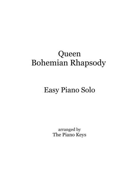 Bohemian Rhapsody Easy Piano Solo