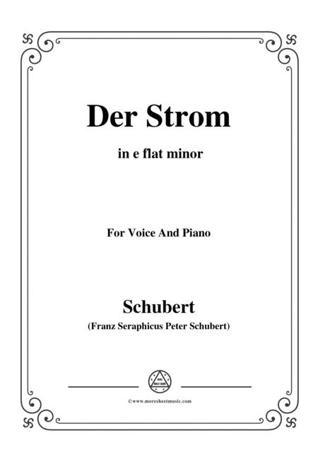 Schubert-Der Strom,in e flat minor,for Voice&Piano