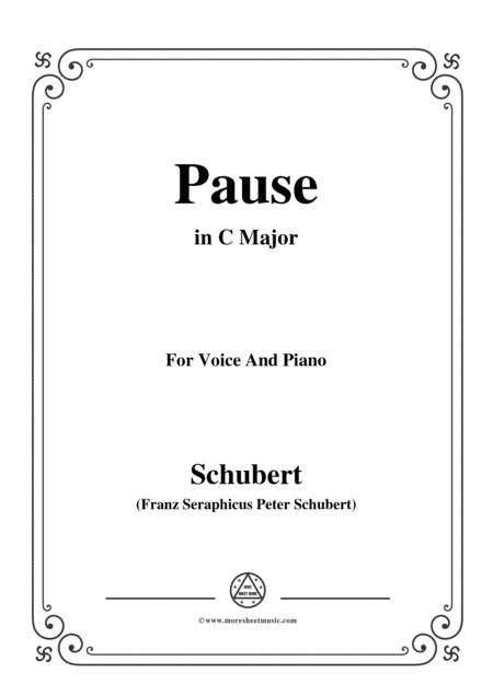 Schubert-Pause,from 'Die Schöne Müllerin',Op.25 No.12,in C Major,for Voice&Piano