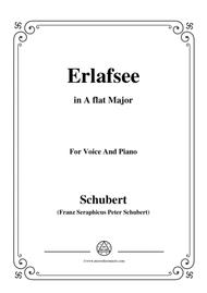 Schubert-Erlafsee,Op.8 No.3,in A flat Major,for Voice&Piano