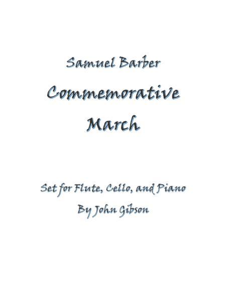 Samuel Barber Commemorative March for Flute, Cello, and Piano