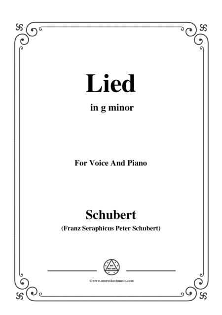 Schubert-Lied(Mutter geht durch ihre Kammern),D.373,in g minor,for Voice&Piano