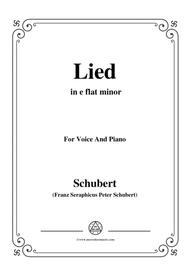 Schubert-Lied(Mutter geht durch ihre Kammern),D.373,in e flat minor,for Voice&Piano
