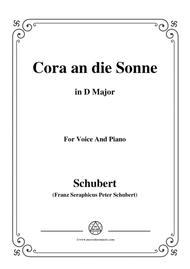 Schubert-Cora an die Sonne,in D Major,for Voice&Piano