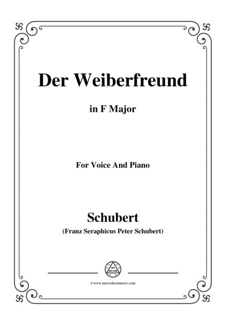 Schubert-Der Weiberfreund(The Philanderer),D.271,in F Major,for Voice&Piano