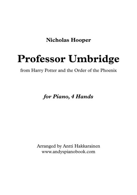 Professor Umbridge - Piano, 4 Hands