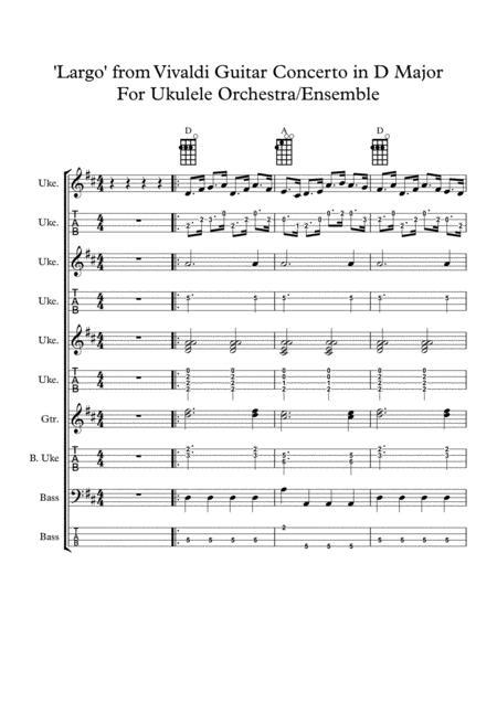 Download Vivaldi Guitar Concerto In D Major For Ukulele