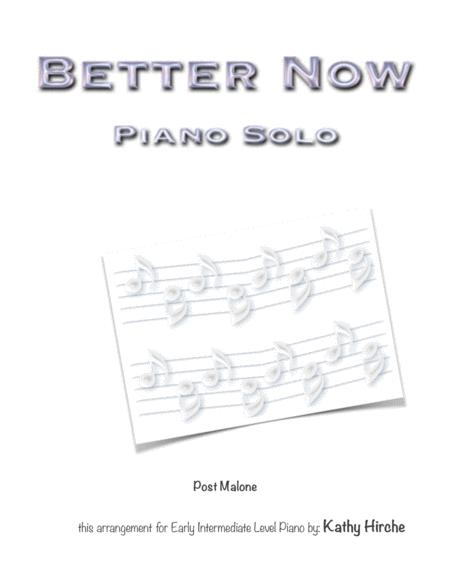 Better Now - Piano Solo