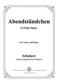 Schubert-Abendständchen,in D flat Major,for Voice&Piano