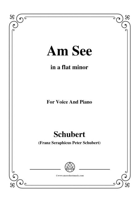 Schubert-Am See,in a flat minor,for Voice&Piano