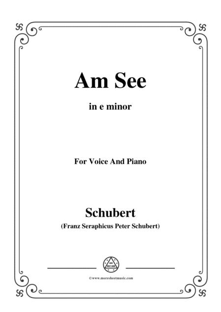 Schubert-Am See,in e minor,for Voice&Piano