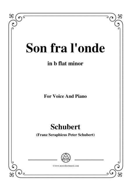Schubert-Son fra l'onde,in b flat minor,for Voice&Piano