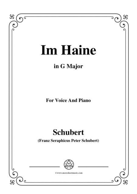Schubert-Im Haine,Op.56 No.3,in G Major,for Voice&Piano