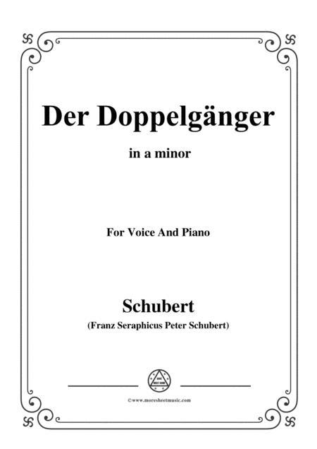 Schubert-Der Doppelgänger,in a minor,for Voice&Piano