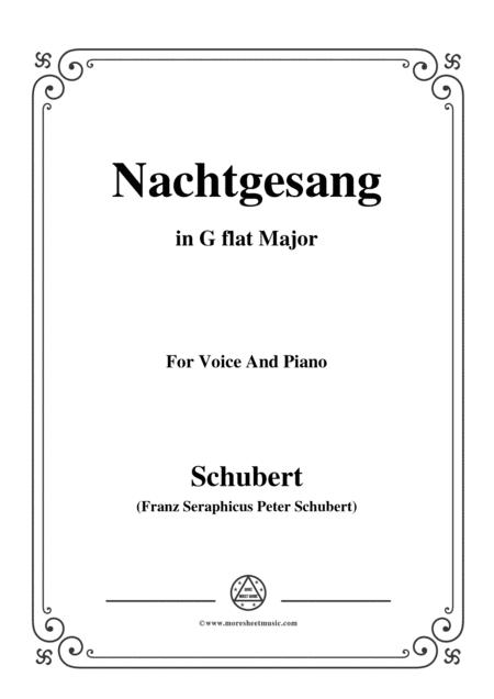 Schubert-Nachtgesang,in G flat Major,for Voice&Piano