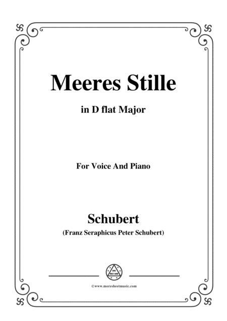Schubert-Meeres Stille,Op.3 No.2,in D flat Major,for Voice&Piano