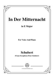 Schubert-In der Mitternacht,in E Major,for Voice&Piano