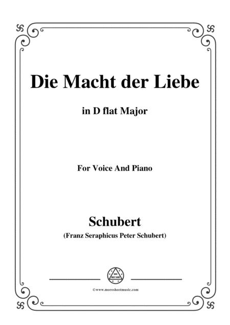 Schubert-Die Macht der Liebe,in D flat Major,for Voice&Piano