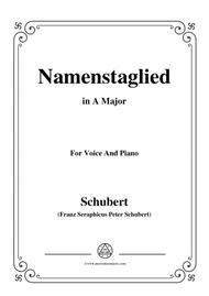 Schubert-Namenstaglied,in A Major,from 'Madrigali',for Voice&Piano