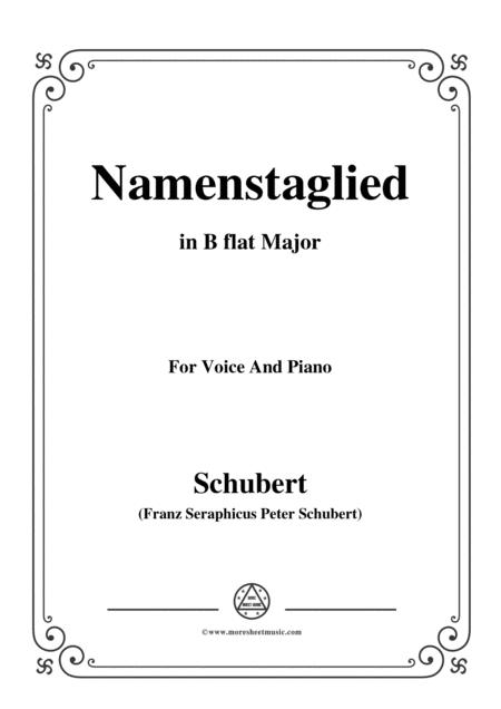 Schubert-Namenstaglied,in B flat Major,from 'Madrigali',for Voice&Piano