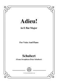 Schubert-Adieu!,in E flat Major,for Voice&Piano