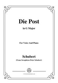 Schubert-Die Post,from 'Winterreise',Op.89(D.911) No.13,in G Major,for Voice&Piano