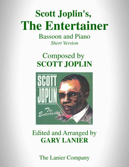 Scott Joplin's, THE ENTERTAINER (Bassoon and Piano with Bassoon Part)