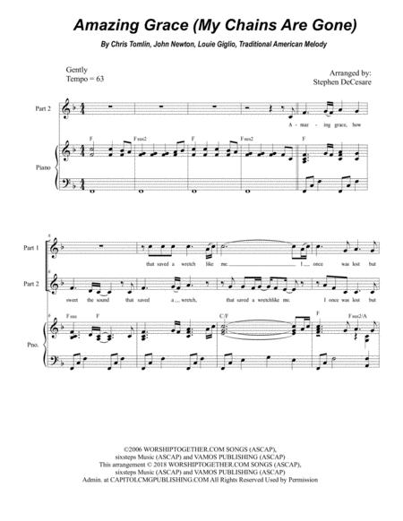 Amazing Grace (My Chains Are Gone) (for 2-part choir)