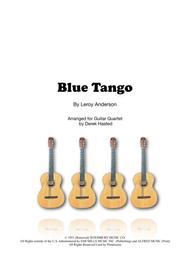 Blue Tango for Guitar Quartet/Large Ensemble