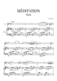 Méditation (from Thaïs) for Flute and Piano